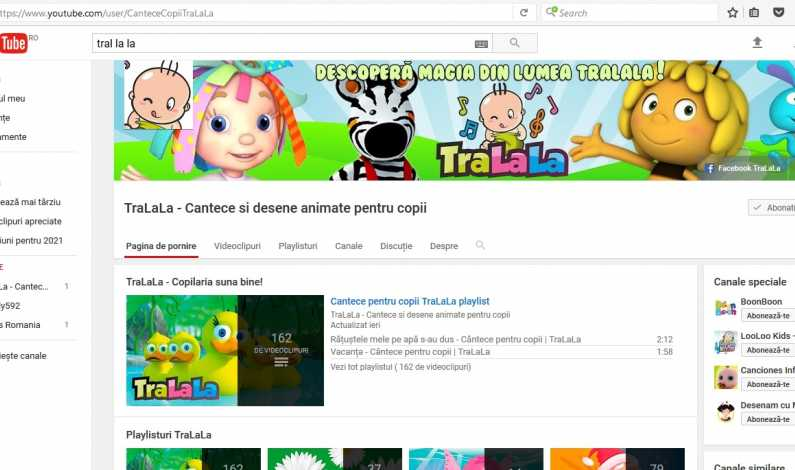 Canalul de YouTub TraLaLa