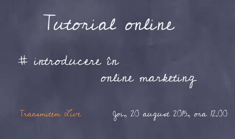 VIDEO Tutorial Google: ABC-ul promovarii pe internet - Introducere in online marketing.