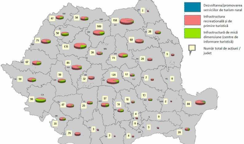 Harta Unde Si Cum Merge Turismul Rural Cu Bani Europeni In Romania