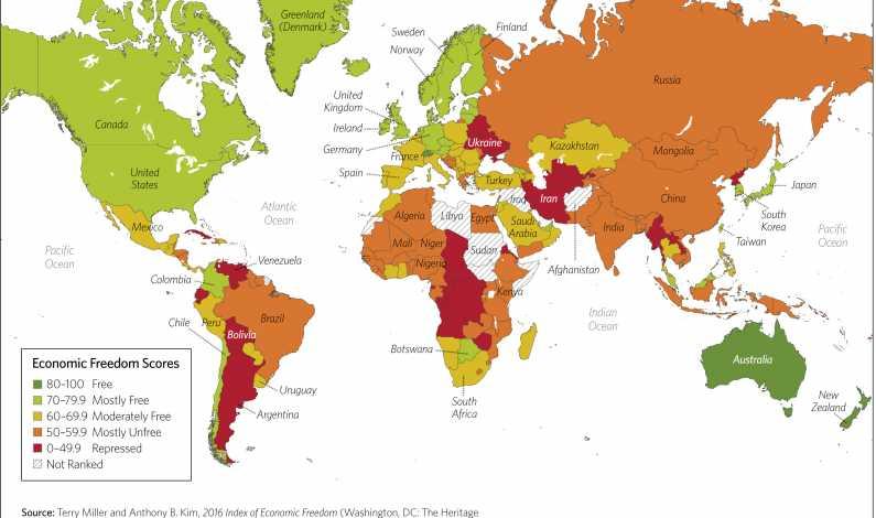 Harta Libertatea Economica In Romania Este Considerata Mai