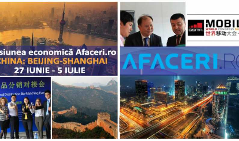 Afaceri.ro invita in China exportatori si producatori din IT, Telecom si alte domenii. Participare gratuita la Mobile World Congress