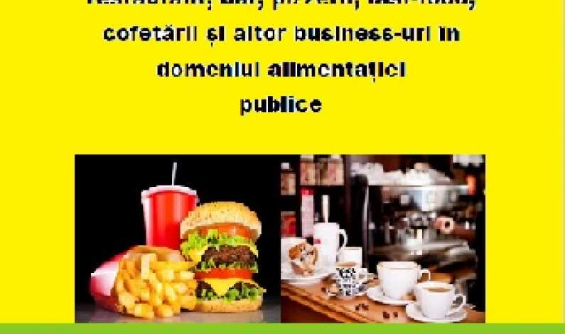 Ghid practic actualizat 2016: Cum iti deschizi restaurant, fast-food, bar - proceduri si demersuri. Descarca PDF